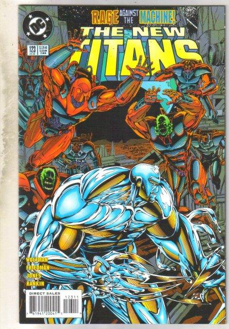 New Titans #123 comic book  near mint 9.4