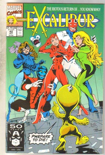 Excalibur #42 comic book mint 9.8
