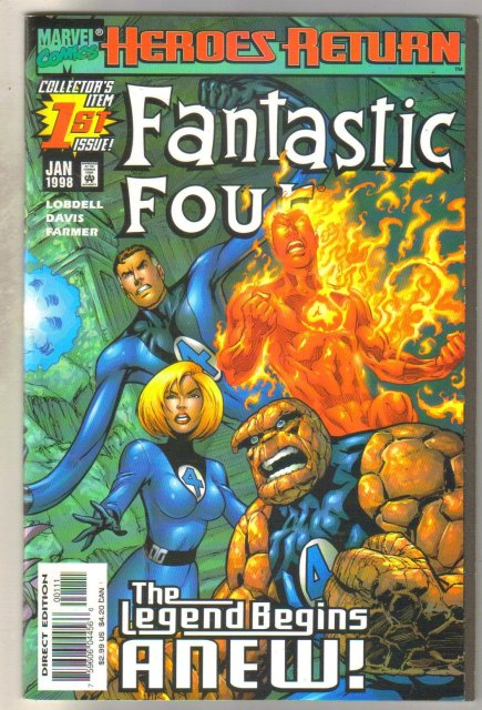 Fantastic Four #1 (Heroes Return) comic book mint 9.8