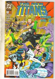 New Titans #121 comic book near mint 9.4