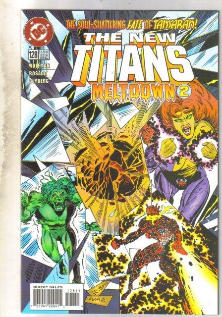 New Titans #128 comic book near mint 9.4