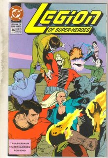 Legion of Super-heroes #46 comic book near mint 9.4