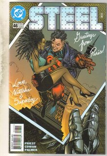 Steel #46 comic book near mint 9.4