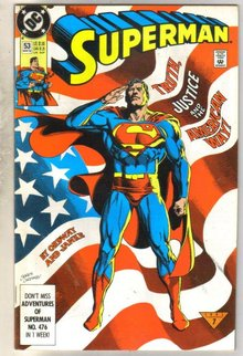 Superman #53 comic book near mint 9.4