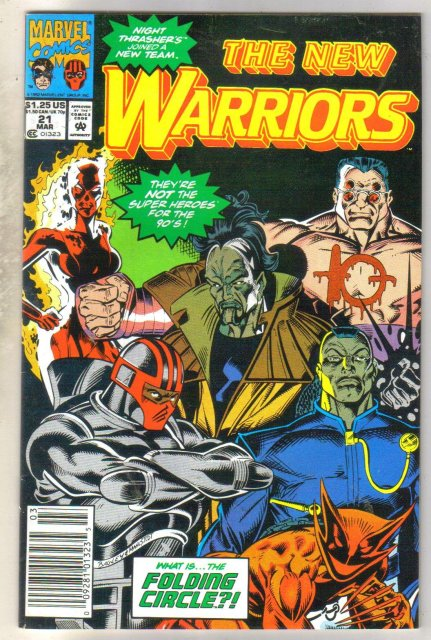 New Warriors #21 comic book near mint 9.4