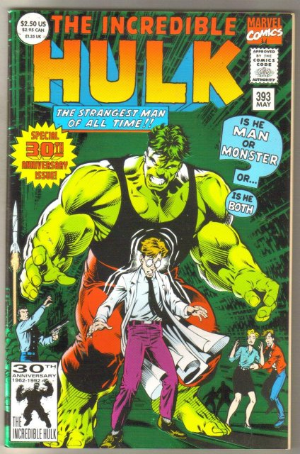 Incredible Hulk #393 comic book near mint 9.4