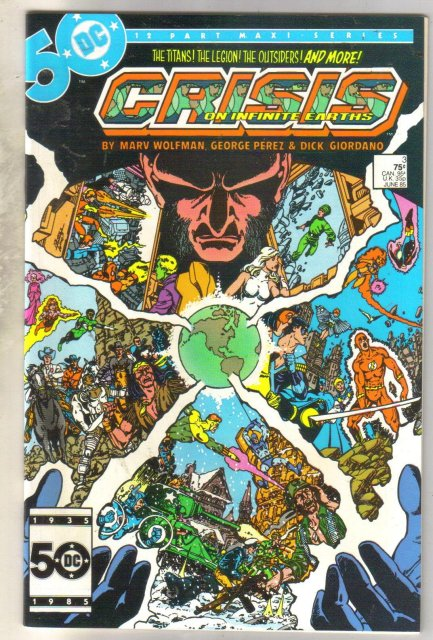 Crisis on Infinite Earths #3 comic book mint 9.8