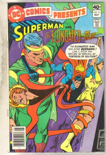 DC Comics Presents #21 (Superman and The Elongated Man) comic book very fine 8.0