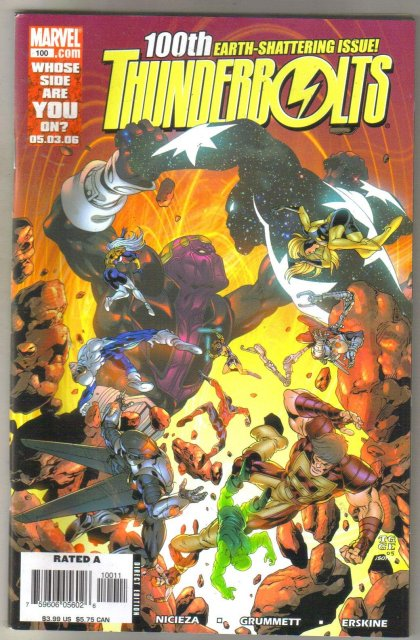 Thunderbolts #100 comic book near mint 9.4