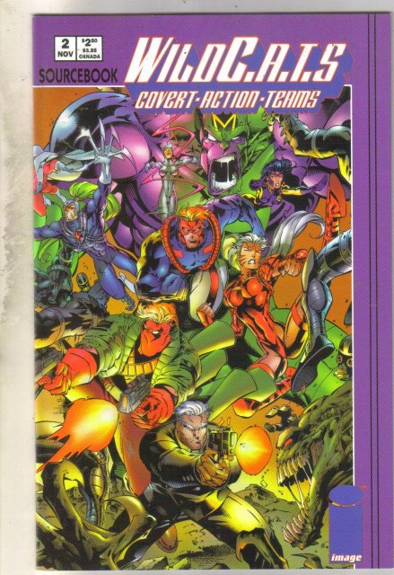 Wildcats Sourcebook #2 comic book near mint 9.4