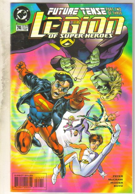 Legion of Super-Heroes #74 comic book near mint 9.4