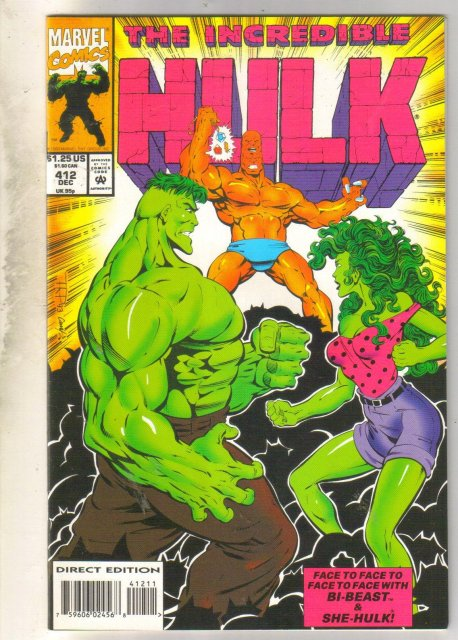 Incredible Hulk #412 comic book near mint 9.4