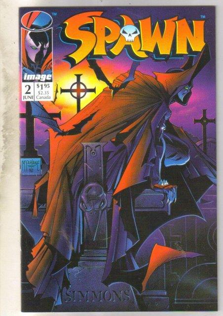 Spawn #2 comic book near mint 9.4
