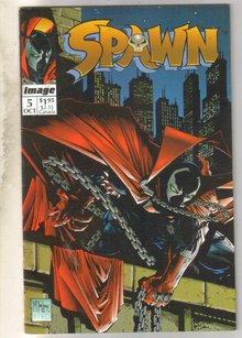 Spawn #5 comic book very fine 8.0