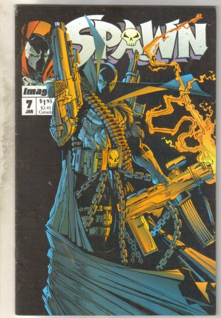 Spawn #7 comic book fine 6.0