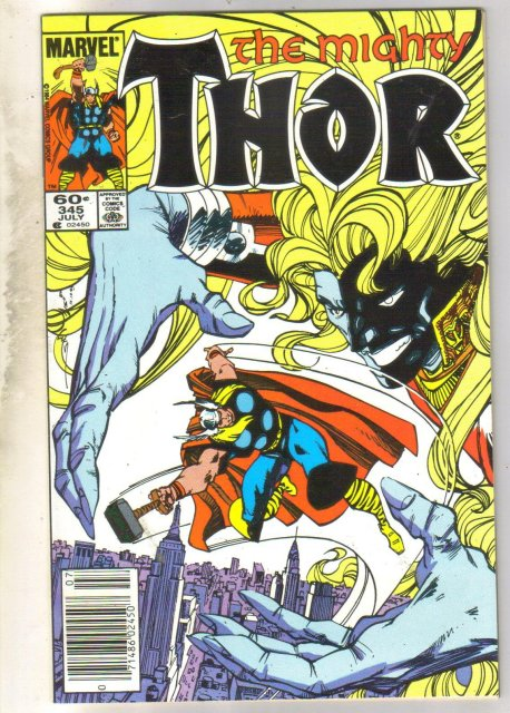 Mighty Thor #345 comic book near mint 9.4