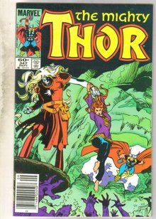 Mighty Thor #347 comic book near mint 9.4
