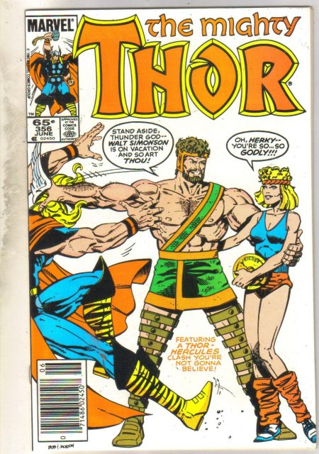 Mighty Thor #356 comic book near mint 9.4