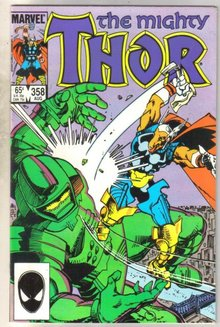 Mighty Thor #358 comic book near mint 9.4