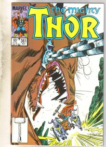 Mighty Thor #361 comic book near mint 9.4