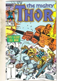Mighty Thor #362 comic book near mint 9.4