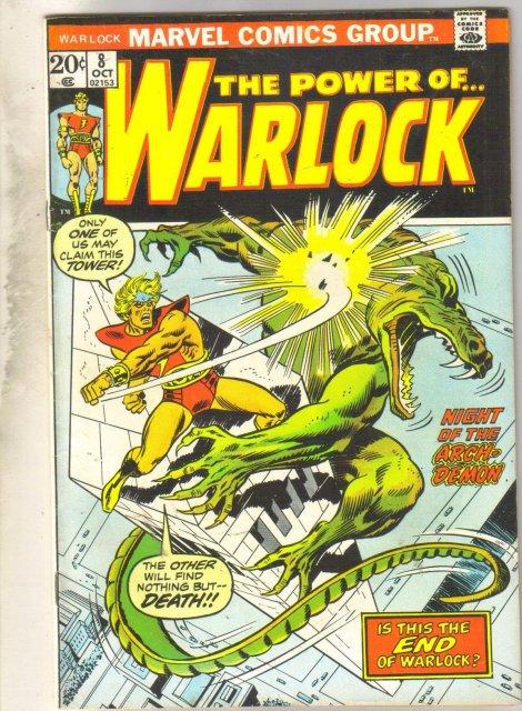 The Power of...Warlock #8  comic book very fine/near mint 9.0