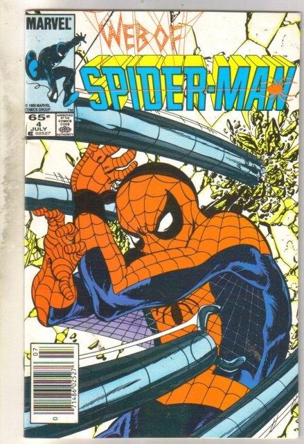 Web of Spider-man #4 comic book near mint 9.4