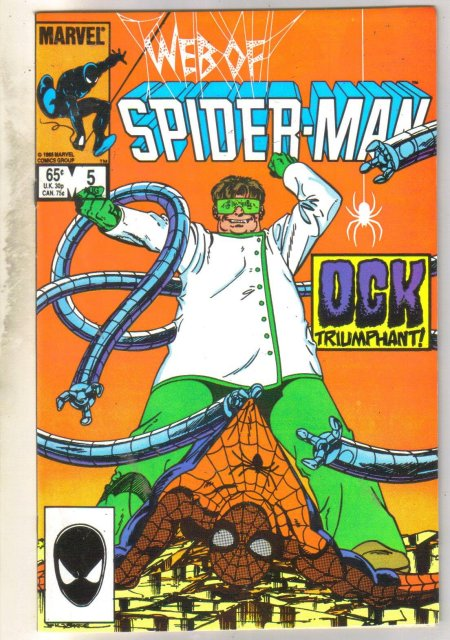 Web of Spider-man #5 comic book near mint 9.4