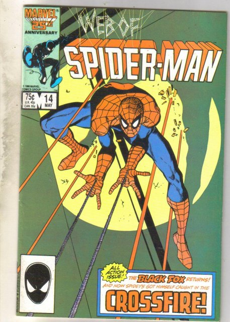 Web of Spider-man #14 comic book fine near mint 9.4