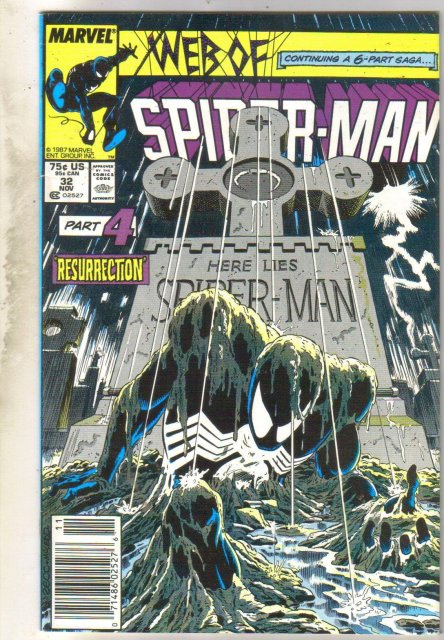 Web of Spider-man #32 comic book very good 4.0