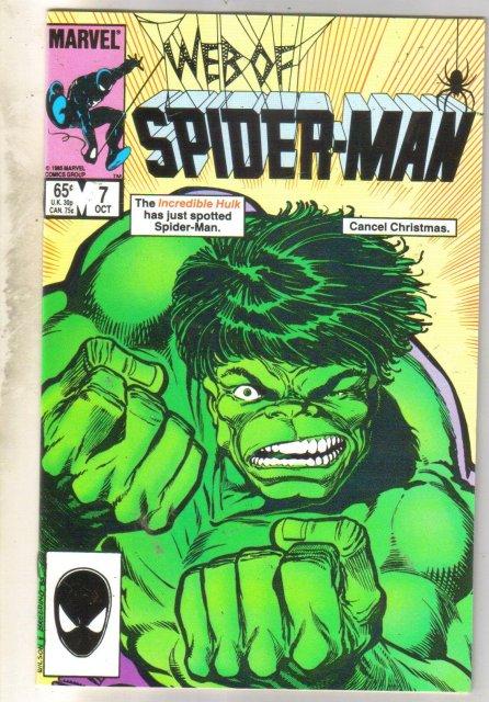 Web of Spider-man #7 comic book near mint 9.4