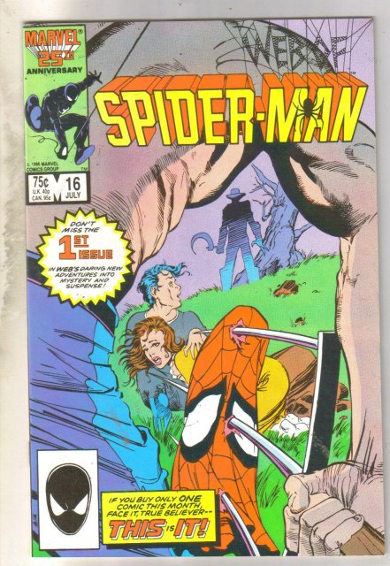 Web of Spider-man #16 comic book near mint 9.4