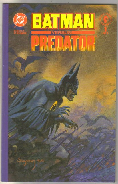Batman Versus Predator #1 comic book mint 9.8