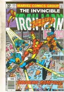 Iron Man #145 comic book near mint 9.4