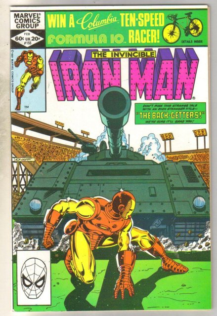 Iron Man #155 comic book near mint 9.4