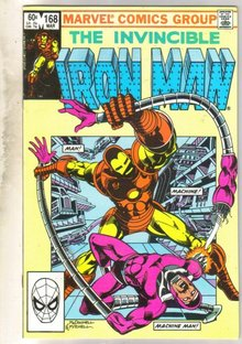 Iron Man #168 comic book near mint 9.4