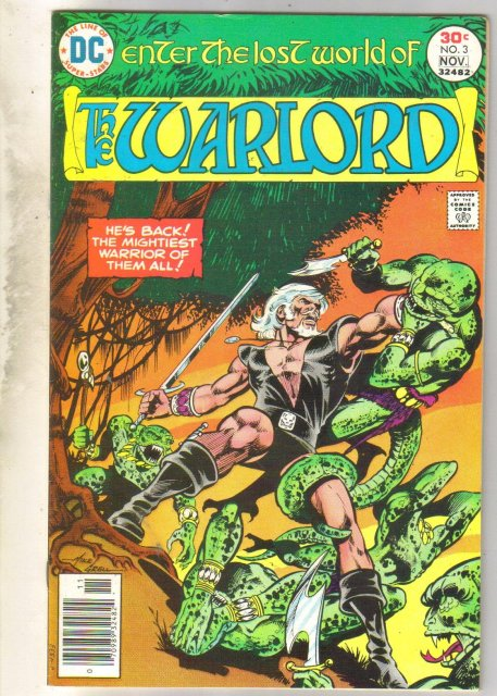 Warlord #3 comic book near mint 9.4