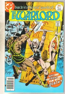Warlord #7 comic book very fine 8.0
