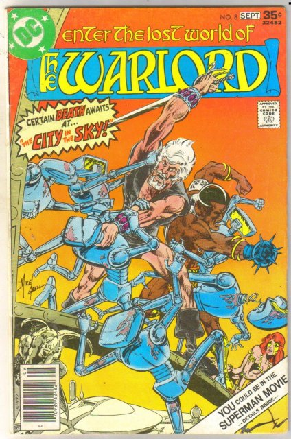 Warlord #8 comic book very good 4.0