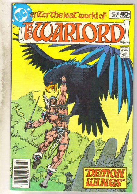 Warlord #31 comic book near mint 9.4