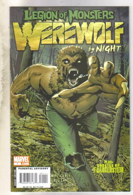 Legion of Monsters: Werewolf by Night #1 comic book mint 9.8