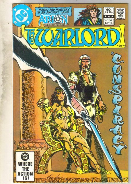 Warlord #56 comic book near mint 9.4