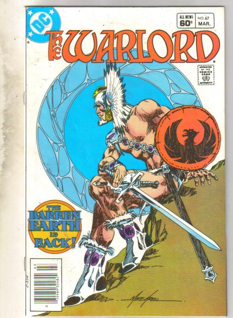 Warlord #67 comic book very fine 8.0