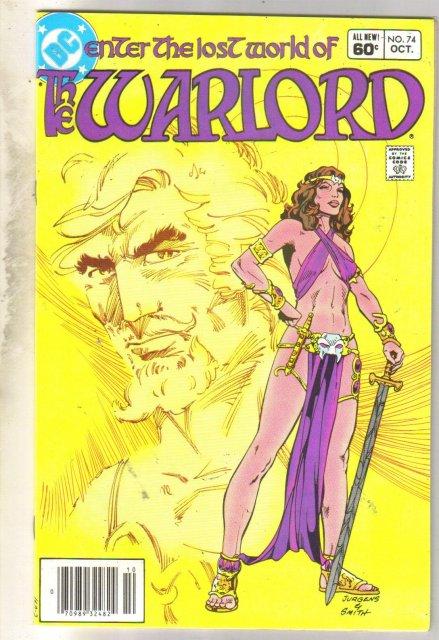 Warlord #74 comic book very fine 8.0