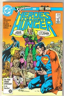 Heroes Against Hunger comic book near mint 9.4