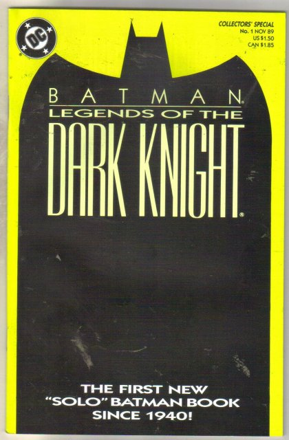 Batman Legends of the Dark Knight #1 comic book near mint 9.4