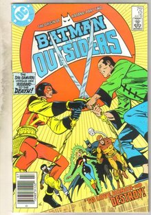 Batman And The Outsiders #12 comic book near mint 9.4