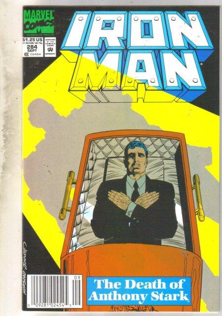Iron Man #284 comic book near mint 9.4
