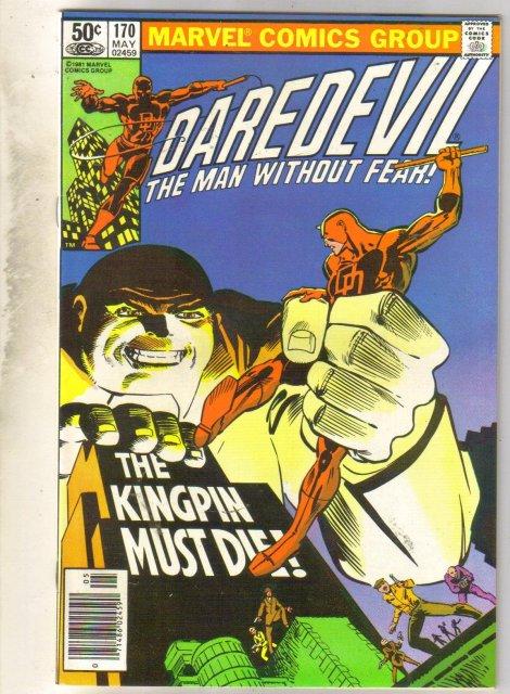 Daredevil #170 comic book near mint 9.4