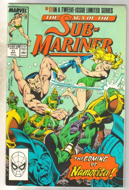 The Saga of the Sub-Mariner #11 comic book near mint 9.4